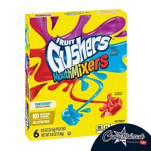 Gushers Mouth Mixers Pack 136g - Candy Mail UK