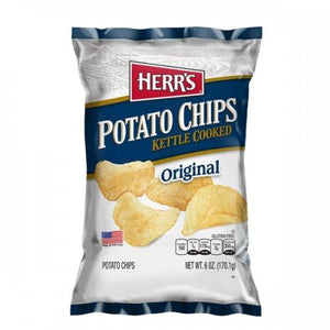 Herr's Kettle Cooked Potato Chips Original 170g - Candy Mail UK
