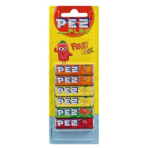 Load image into Gallery viewer, Pez Fruit Mix Refills 6 Pack 51g