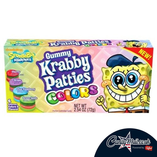 Krabby Patty Colours Theatre Box 72g - Candy Mail UK
