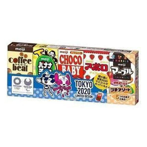 Meiji 5 mini Candy Assortment Tokyo Olympics Pack 63g - Candy Mail UK