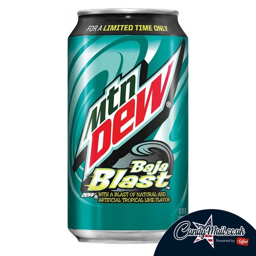 Mountain Dew USA Baja Blast 355ml - Candy Mail UK