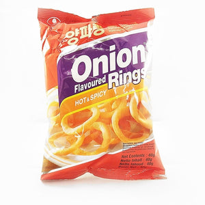 Nongshim Hot and Spicy Onion Ring Snack 50g - Candy Mail UK