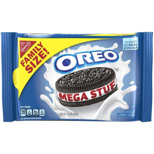 Load image into Gallery viewer, Oreo Mega Stuf Cookies Family Size 499g - Candy Mail UK