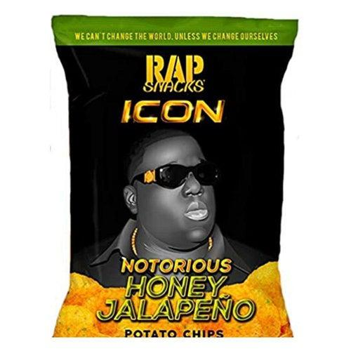 Load image into Gallery viewer, Rap Snacks Notorious BIG Honey Jalapeno 28g - Candy Mail UK