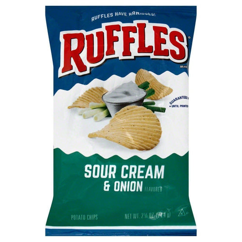 Ruffles Potato Chip Sour Cream and Onion 184g - Candy Mail UK