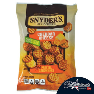 Load image into Gallery viewer, Snyder's Cheddar Cheese Sandwich Pretzels 60g