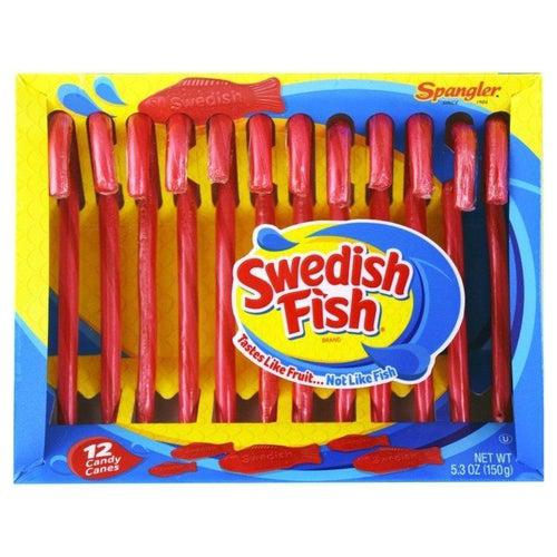 Swedish Fish Fruity Candy Canes 150g - Candy Mail UK