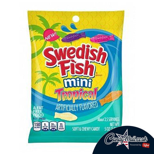 Swedish Fish Tropical Bag 141g - Candy Mail UK