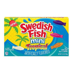 Swedish Fish Tropical Theatre Box 141g - Candy Mail UK