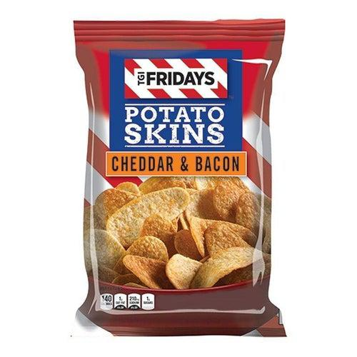 TGI Fridays Cheddar and Bacon Potato Skins 113g - Candy Mail UK