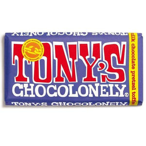 Tony's Chocolonely Dark Milk Chocolate Pretzel Toffee 180g - Candy Mail UK