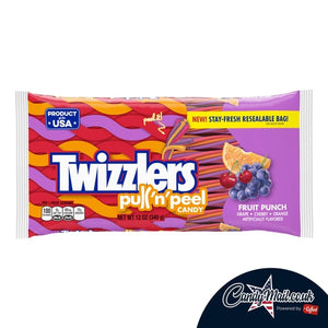 Twizzlers Fruit Punch Pull-N-Peel 340g - Candy Mail UK