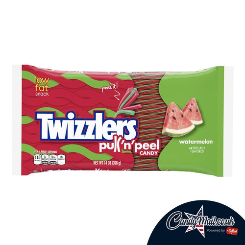 Twizzlers Watermelon Pull-N-Peel 397g - Candy Mail UK