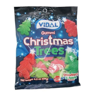 Vidal Gummy Sugared Christmas Trees 128g - Candy Mail UK