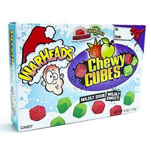 Warheads Chewy Cubes Xmas Theatre Box 113g - Candy Mail UK