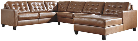 Baskove Signature Design by Ashley 4-Piece Sectional with Chaise