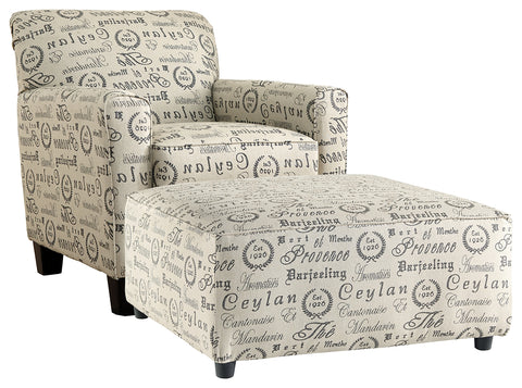 Alenya Signature Design 2-Piece Chair and Ottoman Set