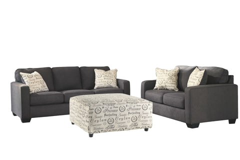 Alenya Signature Design 3-Piece Living Room Set with Ottoman