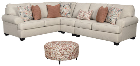 Amici Signature Design 4-Piece Living Room Set with Sectional