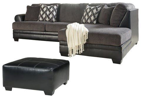 Kumasi Benchcraft 3-Piece Living Room Set with Ottoman