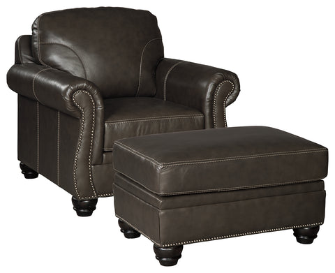 Lawthorn Signature Design 2-Piece Chair with Ottoman