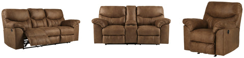 Boxberg Signature Design Reclining 3-Piece Living Room Set