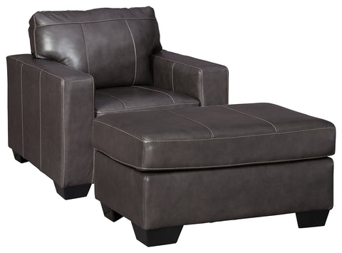 Morelos Signature Design 2-Piece Chair with Ottoman