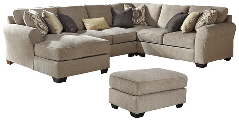 Pantomine Benchcraft 5-Piece Living Room Set with Sectional
