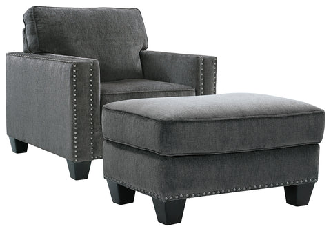 Gavril Benchcraft 2-Piece Chair and Ottoman Set