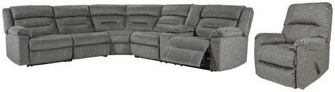Malmaison Signature Design Contemporary Power Reclining 5-Piece Living Room Set
