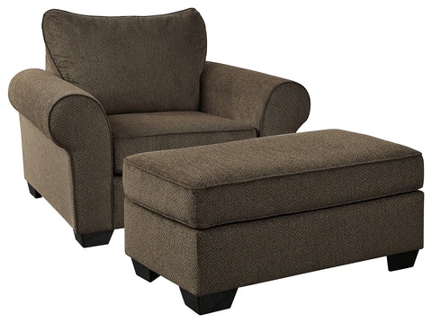 Nesso Benchcraft 2-Piece Chair with Ottoman