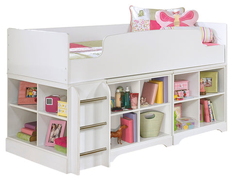 Signature Design by Ashley Lulu Twin Loft Bed with 2 Bookcases