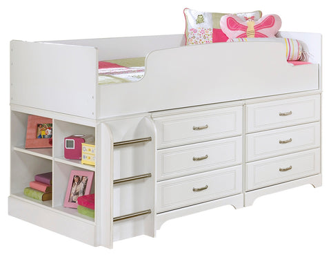 Signature Design by Ashley Lulu Twin Loft Bed with 6 Drawer Storage