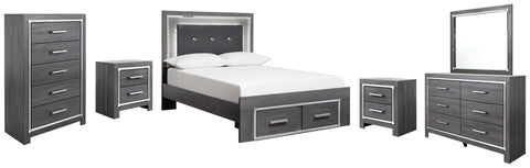 Lodanna Signature Design 8-Piece Bedroom Set with 2 Storage Drawers