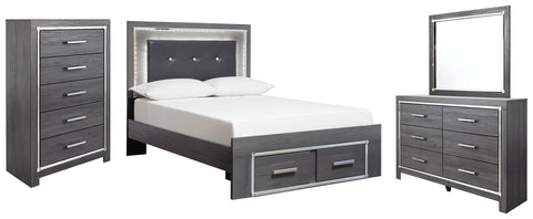 Lodanna Signature Design 6-Piece Bedroom Set with 2 Storage Drawers