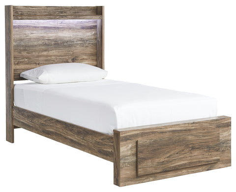 Signature Design by Ashley Rusthaven Twin Panel Bed with 1 Storage Drawer
