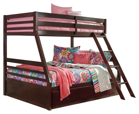 Signature Design by Ashley Halanton Twin over Full Bunk Bed with 1 Large Storage Drawer