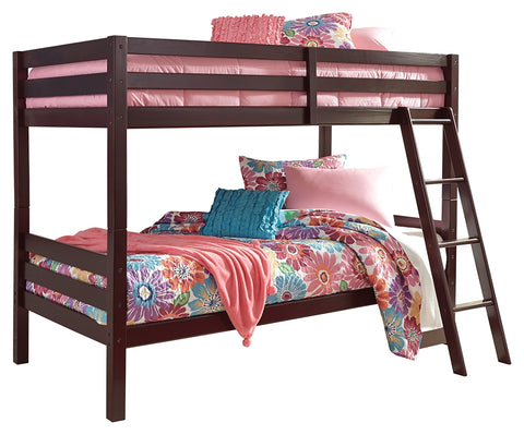 Signature Design by Ashley Halanton Twin over Twin Bunk Bed with Ladder