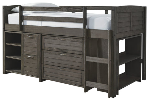 Signature Design by Ashley Caitbrook Twin Loft Bed with 1 Large Storage Drawer