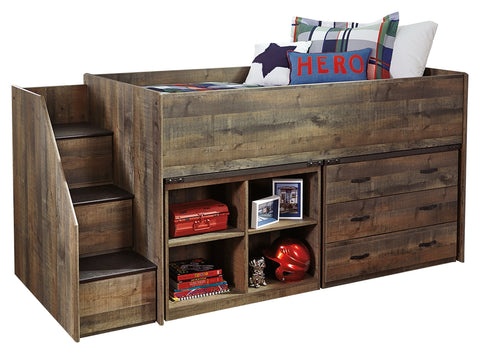 Signature Design by Ashley Trinell Twin Loft Bed with 1 Large Storage Drawer