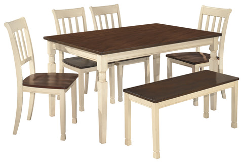 Whitesburg Signature Design 6-Piece Dining Room Set with Dining Room Bench