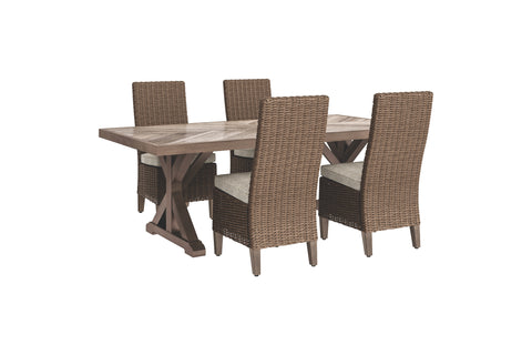 Beachcroft Signature Design 5-Piece Outdoor Dining Set
