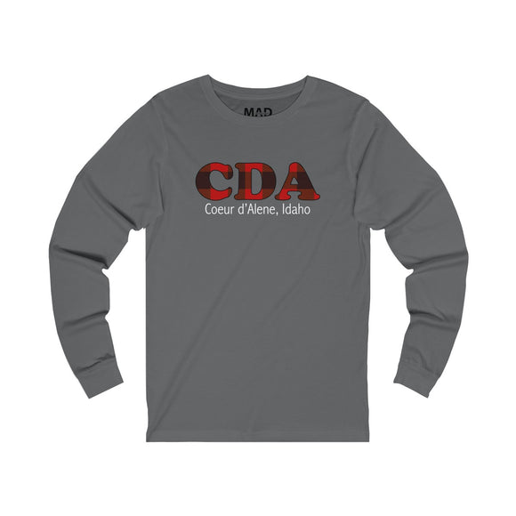 Red Plaid CDA Long Sleeve T-Shirt