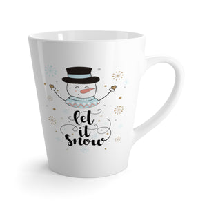 Let it Snowman Latte Mug