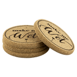 Make Me Wet Cork Coaster (Set of 4)