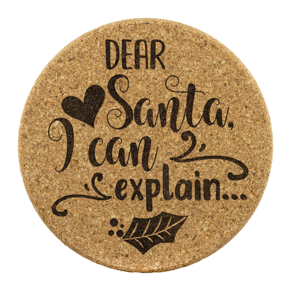 Dear Santa Cork Coaster (Set of 4)