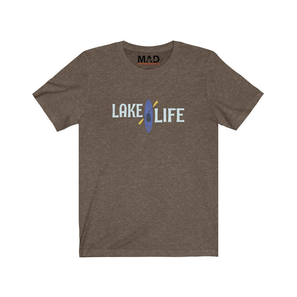 Lake Life Blue Kayak  T-Shirt
