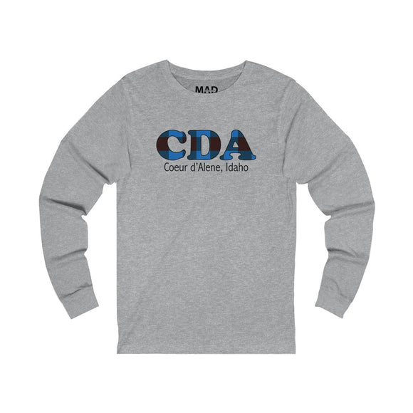 Blue Plaid CDA Long Sleeve T-Shirt