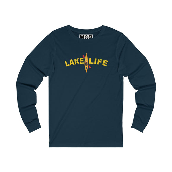 Lake Life Yellow Kayak Long Sleeve T-Shirt